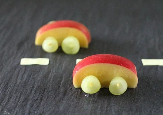 desayunos para niños de carritos de manzana
