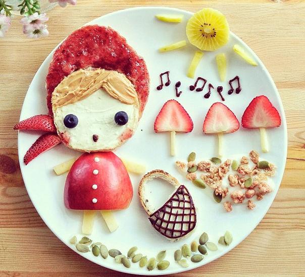 desayunos para niños de tostaditas con arroz