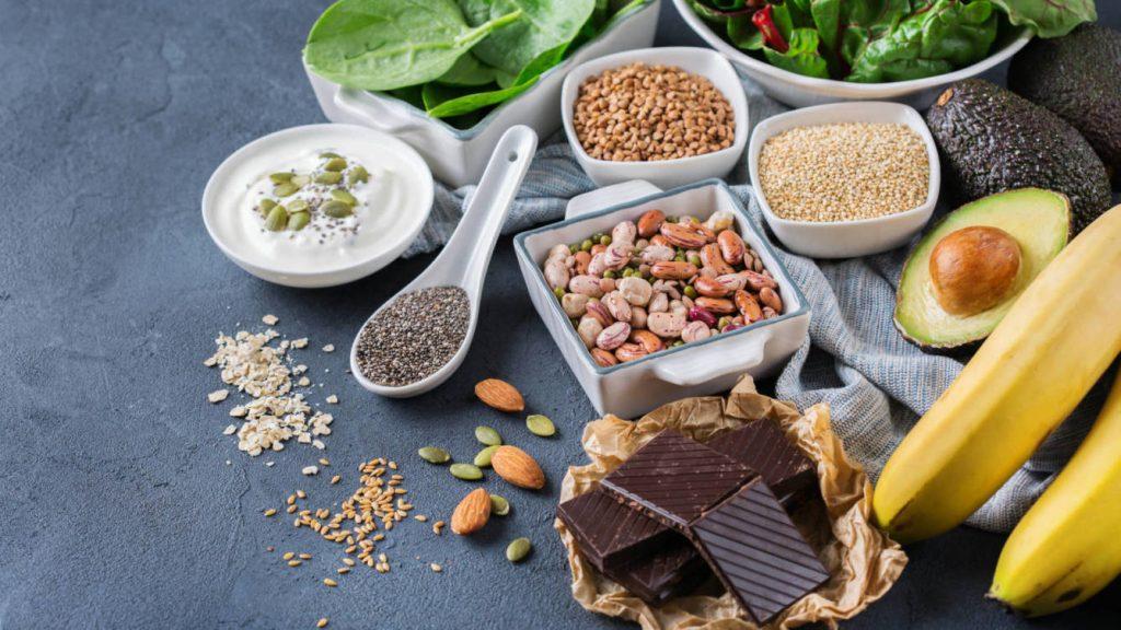 Diferentes alimentos saludables
