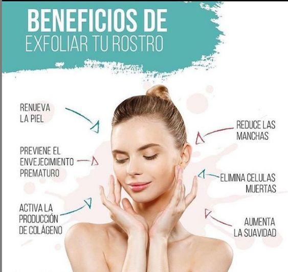 Infografía de la importancia de exfoliar la piel