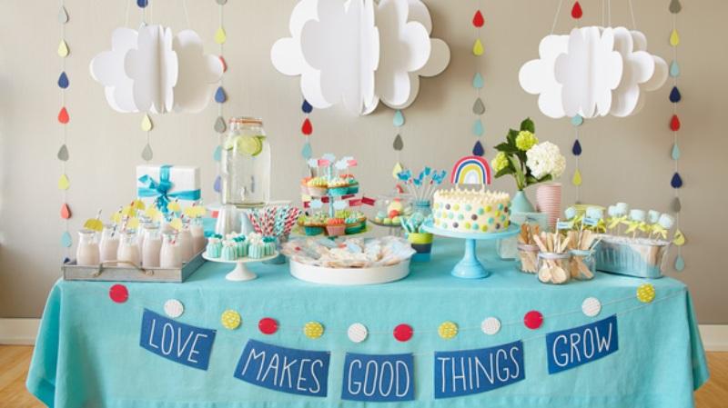 la celebración de un baby shower