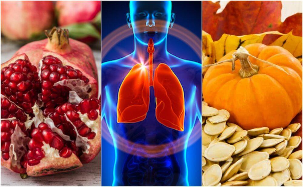 Alimentos que mejoran la salud de los pulmones